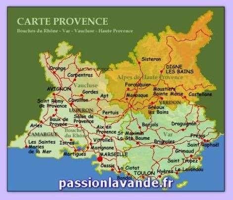 Carte Des Villes Et Villages Des Bouches Du Rhone